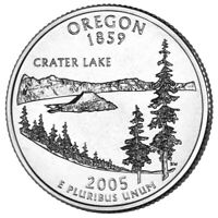 2005 P OREGON STATE QUARTER A BU COIN CLAD. FINISH YOUR COIN