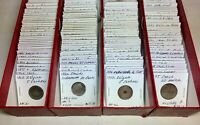 1800S 1900S WORLD LOT OF 150 CARDED COINS WITH SILVER & BU A