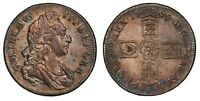 ENGLAND 1696 CROWN   OCTAVO   FIRST BUST   FIRST HARP   XF