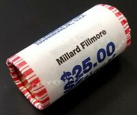 2010 MILLARD FILLMORE PRESIDENTIAL DOLLAR 25 COIN ROLL HEADS/TAILS ROLL