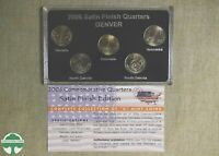 2006 D 50 STATES COMMEMORATIVE QUARTERS SET IN BOX W/ PAPERS