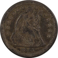 1857-O SEATED LIBERTY DIME - PLEASING CIRCULATED EXAMPLE