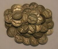 ONE ROLL OF 40 JEFFERSON WAR NICKELS  1942 1945