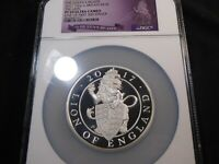 C103 GREAT BRITAIN 2017 SILVER 10 OZ. THE QUEEN'S BEASTS THE