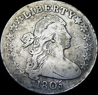 1805 DRAPED BUST HALF DOLLAR SILVER US COIN ----  TYPE COIN   ----  T004