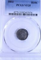 1832 CAPPED BUST HALF DIME : PCGS VF35
