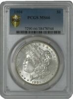 1904 MORGAN DOLLAR $ MINT STATE 66 SECURE PLUS PCGS 941230-17