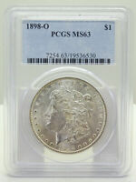 1898-O $1 MORGAN SILVER DOLLAR PCGS CERTIFIED MINT STATE 63