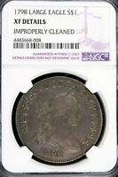 1798 - NGC EXTRA FINE  DETAILS LARGE EAGLE DRAPED BUST DOLLAR HD0033