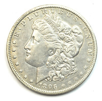 1896 O $1 MORGAN SILVER DOLLAR  NEW ORLEANS VAM 7 AU