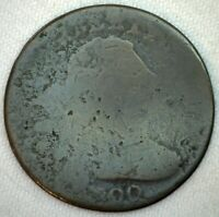 1800 LIBERTY DRAPED BUST US LARGE CENT PENNY COIN 1C US TYPE COIN POOR GRADE