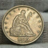 1875 TWENTY CENT PIECE 20 CENTS    37 000 MINTED NICE COIN  8881