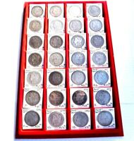 LOT OF 28  MORGAN SILVER DOLLARS - VARIOUS DATES AND MINT STATES.1883-1901 ML02