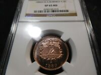 P26 BRITISH NORTH BORNEO 1886 H 1/2 CENT NGC SPECIMEN 65 FUL
