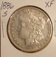 1886 S MORGAN DOLLAR EXTRA FINE .COMBINED SHIPPING ONLY $3.50 LOT 4412