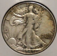 WALKING LIBERTY HALF - 1942-S - OVERSTOCK SALE - $1 UNLIMITED SHIPPING-430