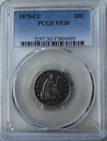1875 CC LIBERTY SEATED TWENTY CENT PIECE