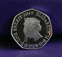 BREXIT COIN 50P SHAPED BU MEDAL ORIGINAL NO IDEA DESIGN UNOFFICIAL COLLECTABLE