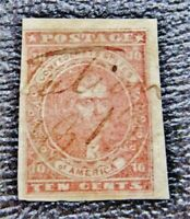 NYSTAMPS US CSA CONFEDERATE STAMP  5 USED $500