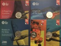 2 COINS RAF 100 CENTENARY COMPLETE FULL SET 2018 BUNC SEALED