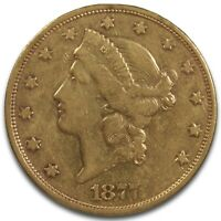 1877 S GOLD DOUBLE EAGLE $20 GOLD COIN BEAUTIFUL & COLLECTIBLE COIN RAW