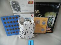 COIN GRAB BAG 1 WITH U.S. & WORLD COINS CURRENCY COIN SETS C