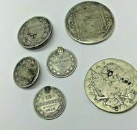 6 PROBOBALY SILVER RUSSIAN COINS 2 COINS FROM 17TH CENTURY
