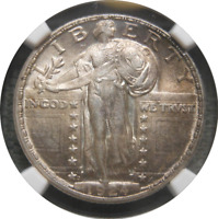 1924 D STANDING LIBERTY QUARTER SLQ 25C NGC MINT STATE 62 FH FULL HEAD