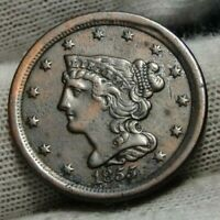 1855 BRAIDED HAIR HALF CENT -  ONLY 56,500 MINTED .  COIN 9009