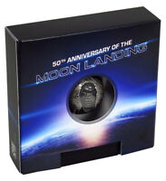 2019 BARBADOS 50TH ANNIVERSARY OF THE MOON LANDING 1OZ SILVER SPHERE