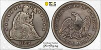 1847 LIBERTY SEATED DOLLAR - PCGS VF DETAIL - CLEANED