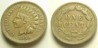 CRISP X/F 1859 INDIAN HEAD CENT-BOLDLY DEFINED TERRIFIC COLOR SHIPS FREE