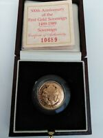 UK 1989 500TH ANNIVERSARY GOLD PROOF FULL SOVEREIGN   ROYAL