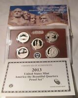 2013 PROOF QUARTERS NATIONAL PARK AMERICA THE BEAUTIFUL U.S.