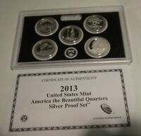 2013 SILVER QUARTER PROOF SET AMERICA THE BEAUTIFUL U.S. MIN