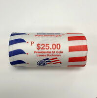 2010 P UNITED STATES MINT JAMES BUCHANAN PRESIDENTIAL $1 COINS $25 ROLL