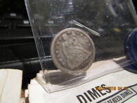 1856 SMALL DATE SEATED LIBERTY DIME  F