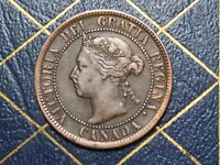 VERY NICE 1894 CANADA LARGE CENT QUEEN VICTORIA  LOT 5