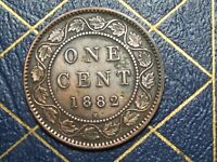 1882H CANADA LARGE CENT QUEEN VICTORIA CEANED LOT 15