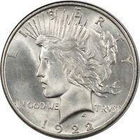 1922-D PEACE DOLLAR - BU - AND ALMOST CHOICE
