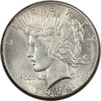 1922-S PEACE DOLLAR - BU - AND WELL STRUCK