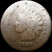 1869 INDIAN HEAD CENT PENNY ---  --- V638
