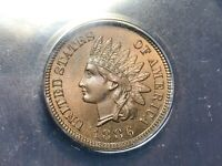 1886 TYPE 1 ANACS PF PR-65 INDIAN HEAD CENT PENNY  --  GORGEOUS COLOR