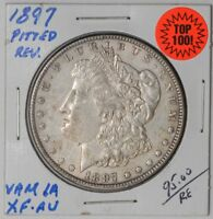 1897 MORGAN DOLLAR $ VAM 6A PITTED REVERSE TOP 100  EXTRA FINE -AU  DC-1049