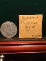 SPAIN COLONY SILVER COIN 1820 M GUATEMALA 8 REAL GREAT DETAILS  BEAUTY