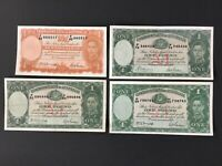 LOT OF 4 COMMONWEALTH OF AUSTRALIA BANK NOTES.