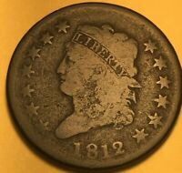1812 CLASSIC HEAD LARGE CENT, GOOD, S-288