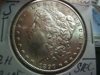 1897-S MORGAN SILVER DOLLAR MS AND BRILLIANT WHITE COULD BE   NEWPS