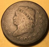 1808 CLASSIC HEAD LARGE CENT GOOD S-278 R-3