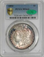 1893 MORGAN DOLLAR $ MINT STATE 64 SECURE PLUS PCGS  CAC  939033-7